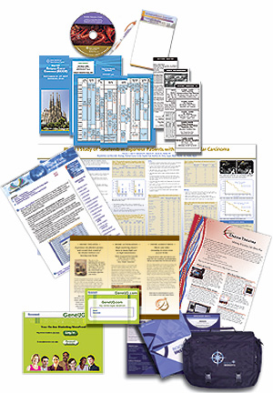 Sell Sheets, note pads, brochures, guide book, newsletters, give-a-ways